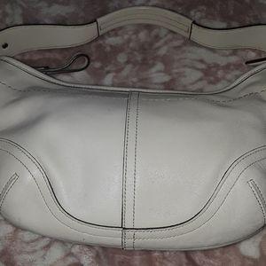 Authentic coach leather mini hobo